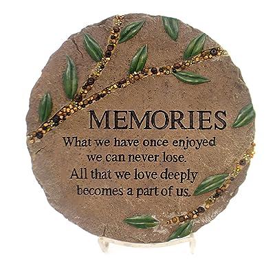 """Carson """"Memories"""" Beadworks Garden Stone : Garden & Outdoor"""