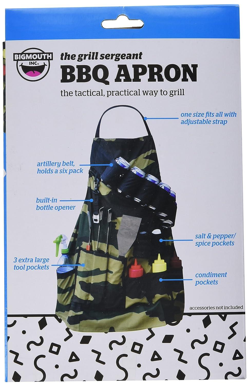 White apron ale - Amazon Com Bigmouth Inc The Grill Sergeant Bbq Apron Kitchen Aprons Kitchen Dining