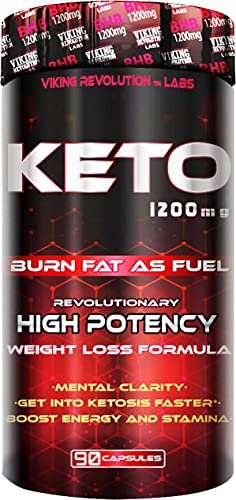 Keto Diet Pills – Weight Loss, Fat Burner Supplement – 1200mg Beta-Hydroxybutyrate, Exogenous Ketones – Formulated to Enter Ketosis, Burn Fat, Enhance Mental Focus Clarity 90 Capsules