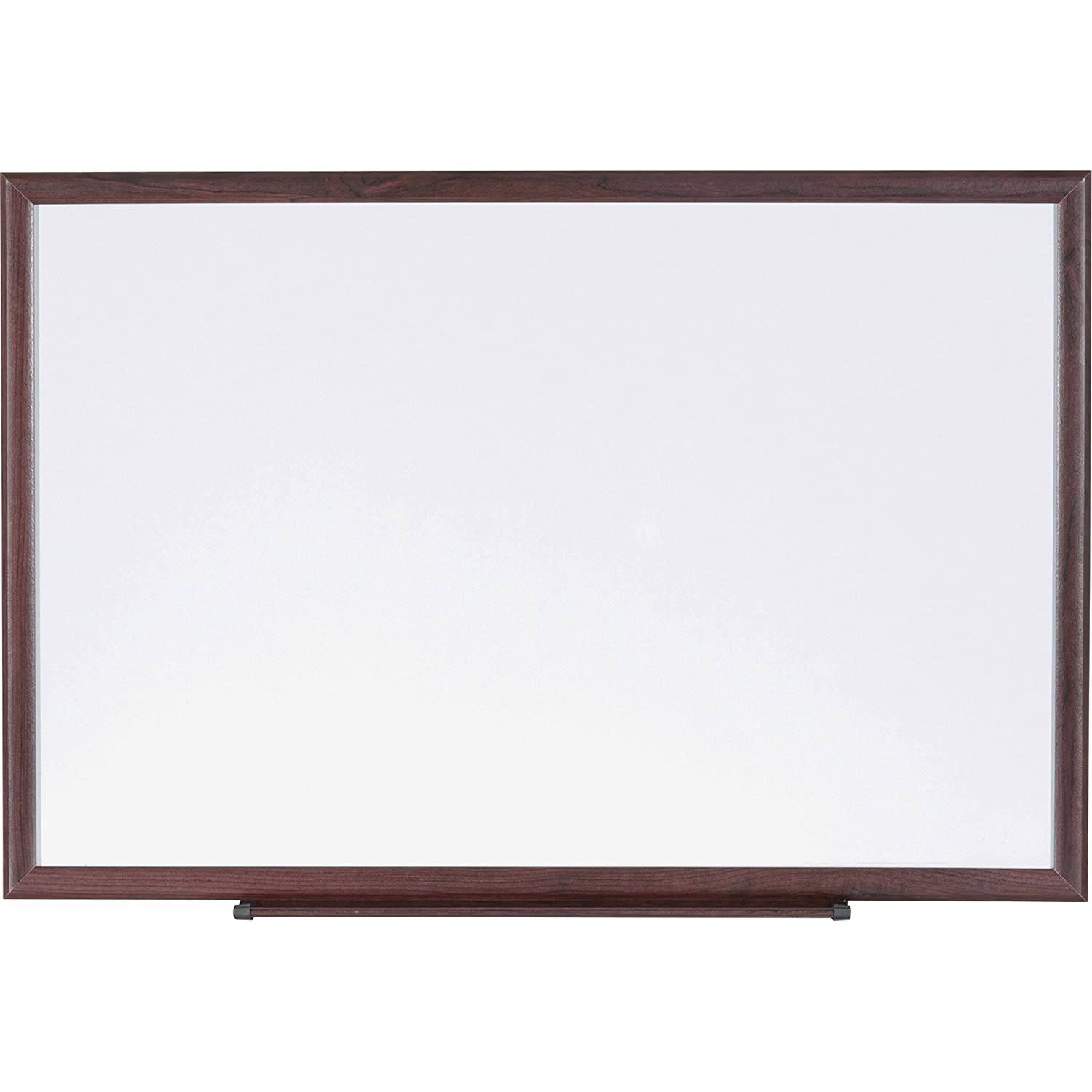 Lorell 84169 Dry-Erase Board, Wood Frame, 6'x4', Brown/White 6' x4'