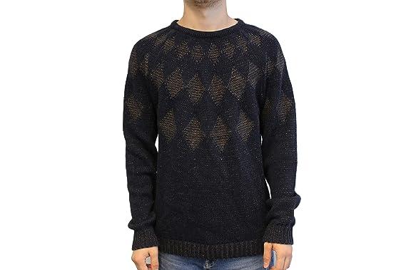 Drykorn Herren Pullover Gr XL Blau Wollpullover Wolle Strick BAZE Winter   D162 788c74d38e