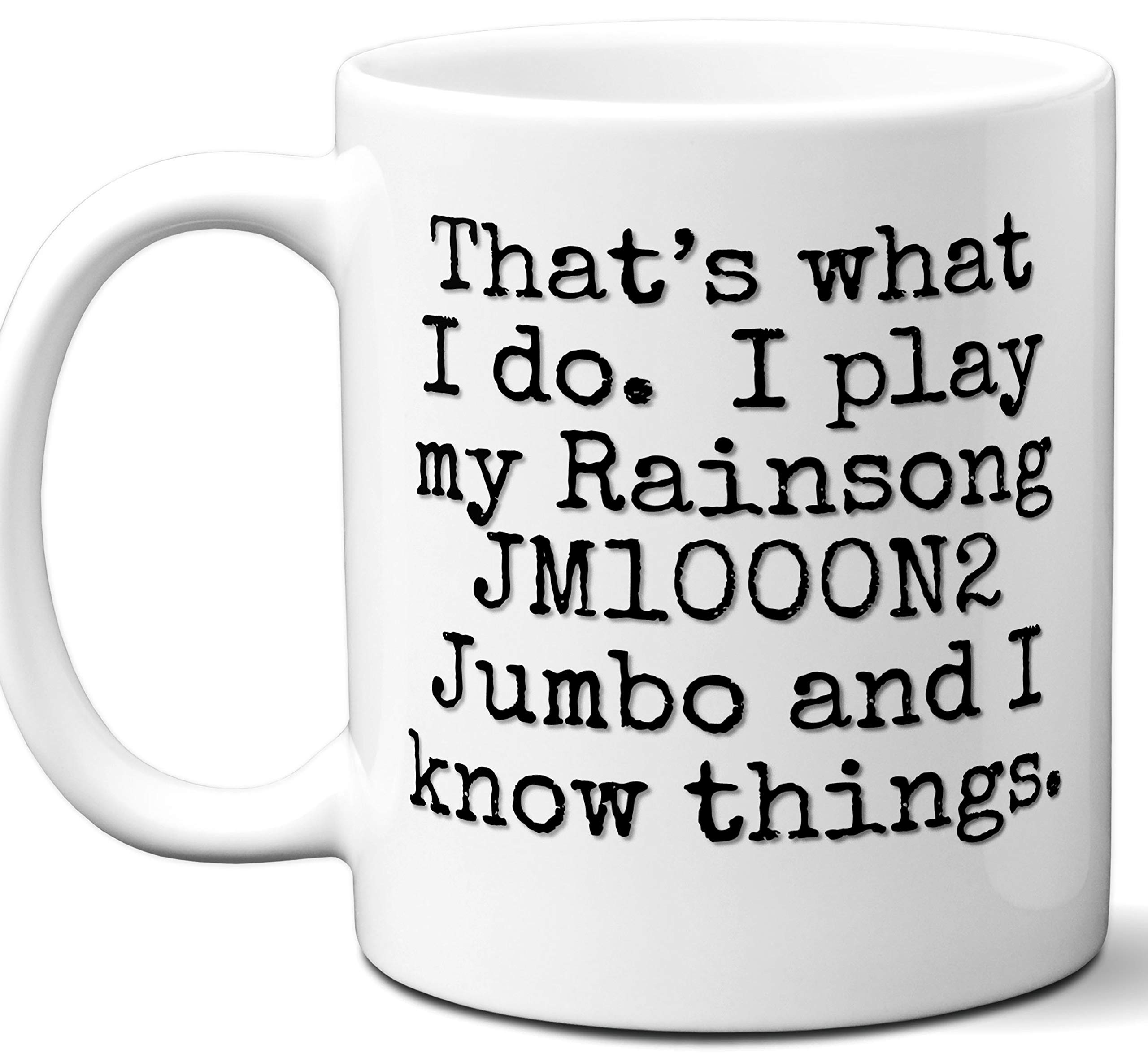 Guitar Gifts Mug. Rainsong JM1000N2 Jumbo Guitar Players Lover Accessories Music Teacher Lover Him Her Funny Dad Men Women Card Pick Musician Acoustic Unique by Ombura