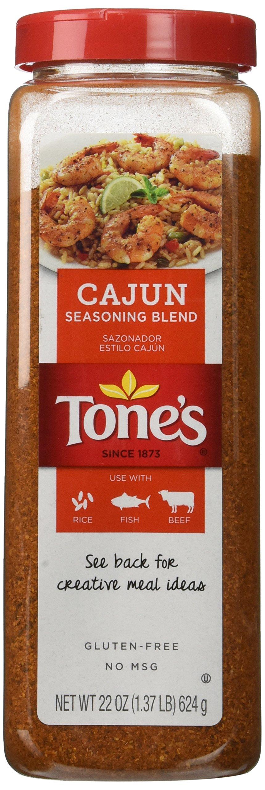 Tones Cajun Seasoning - 22 oz. shaker by Tone's (Image #1)