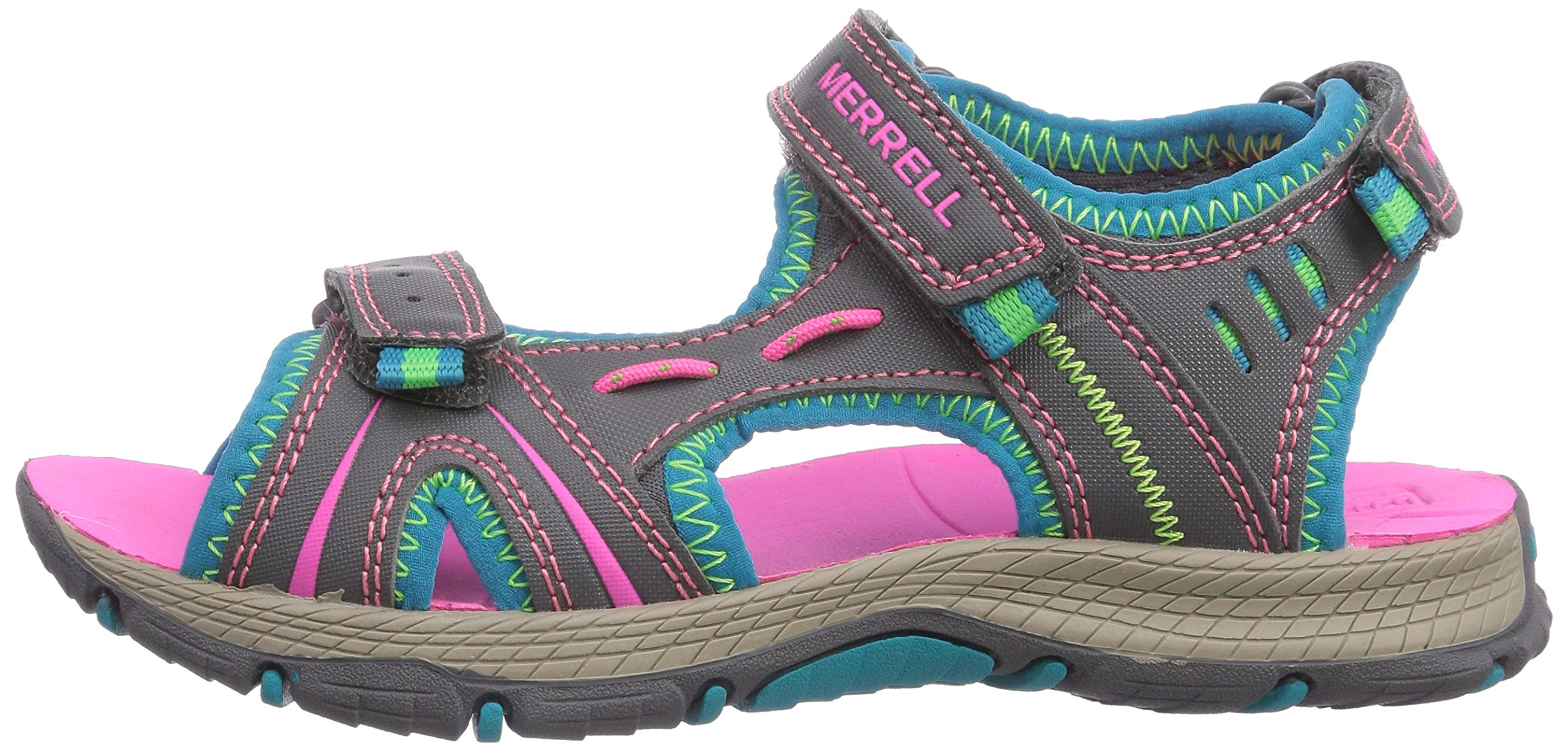 Merrell Panther Athletic Water Sandal , Blue/Pink/Green, 11 M US Little Kid by Merrell (Image #5)