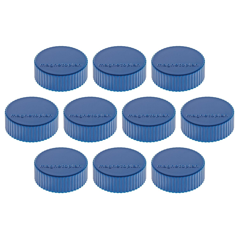 10 dischi magnetici 34 mm blu scuro Magnetoplan Junior