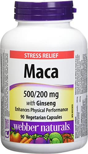 Webber Naturals Maca with Ginseng 500 200mg 90 capsules