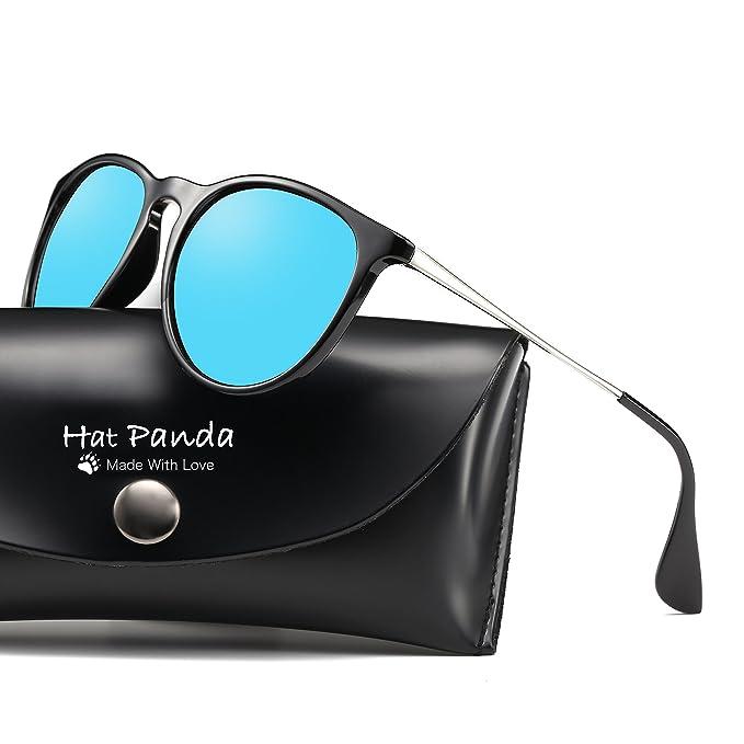 Hat Panda Gafas de Sol Polarizadas UV400 Gafas de Sol Polarizadas Metal de Moda para Conducción