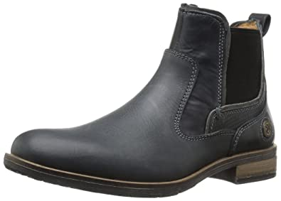 Steve Madden Men's Nockdwn Chelsea Boot, Black Leather, ...