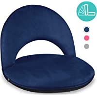 Best Choice Products Multipurpose Adjustable Floor Gaming Chair Recliner w/Machine-Washable Microfiber Cover - Blue