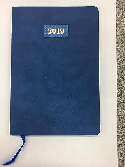 Diary 2019 - Agenda de bolsillo, color azul: Amazon.es ...