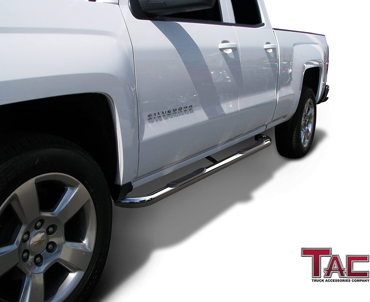 "Fit 1999-2018 Chevy Silverado Extended cab 4/"" Black Nerf Bar Step Running Boards"