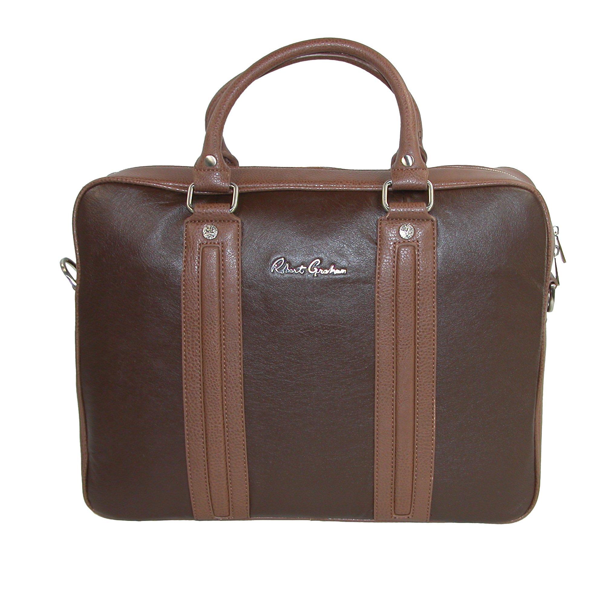 Robert Graham Men's Roman Briefcase, Brown