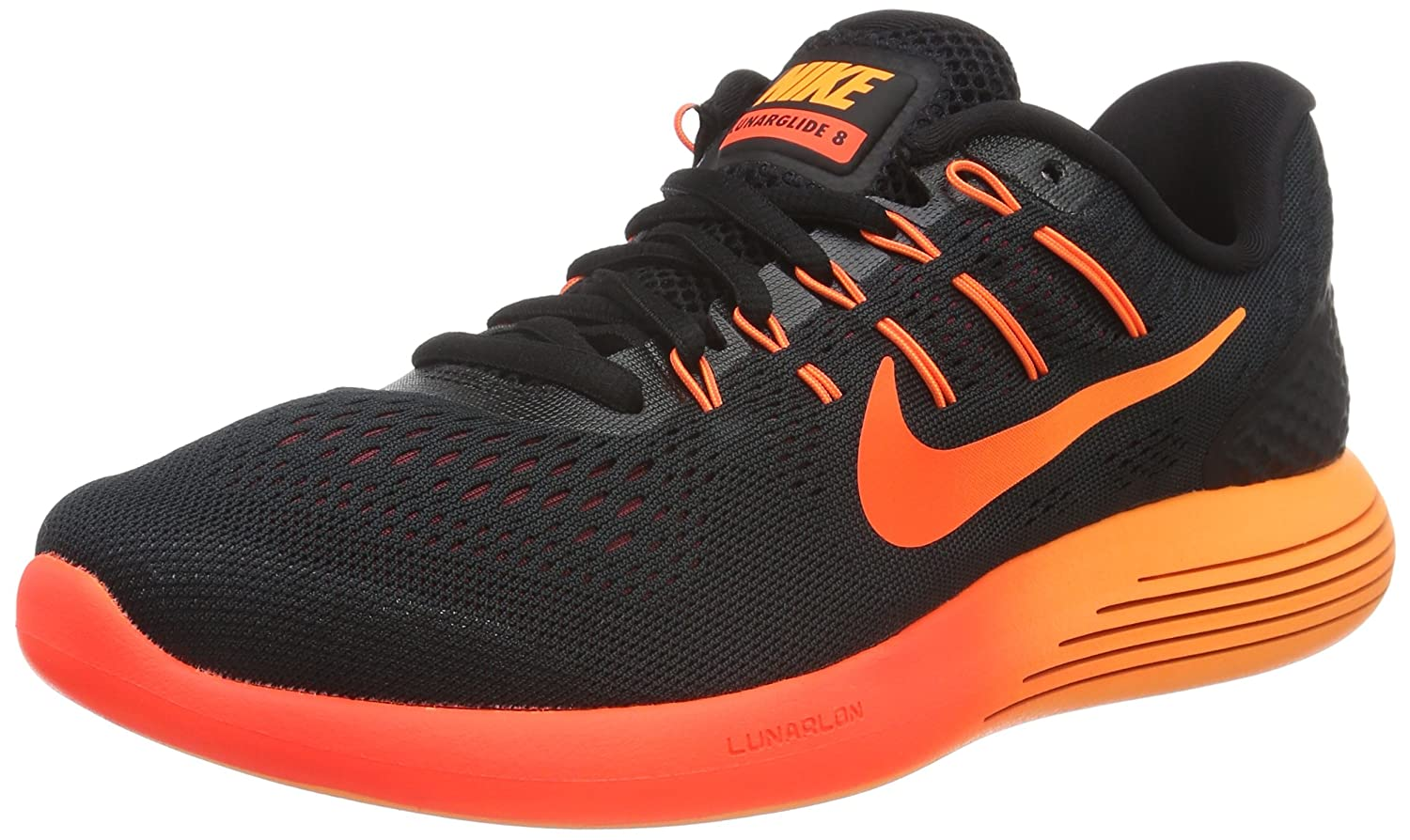 reputable site 8036f 26931 Nike Men s Lunarglide 8 Running Shoes Black  Amazon.co.uk  Shoes   Bags