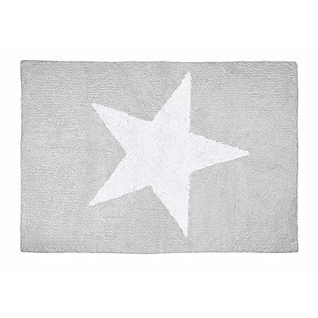 Lilipouce Alfombra Infantil algodón Estrella Boy, Tela, Gris ...