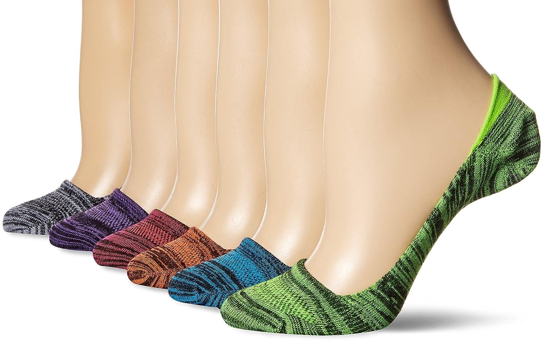 Hanes womens standard 6-pack Invisible Comfort Ballerina Liner Dark Asst 5-9 HC726B