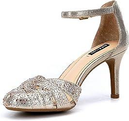 59161dfa3d Alex Marie Delina Jeweled Ankle-Strap Pumps