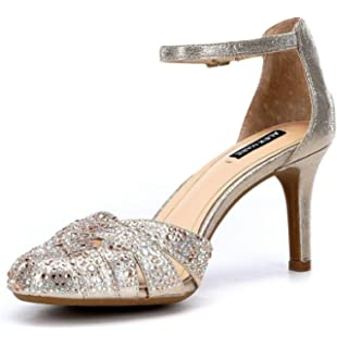 8bf68f73a6b Alex Marie Delina Jeweled Ankle-Strap Pumps