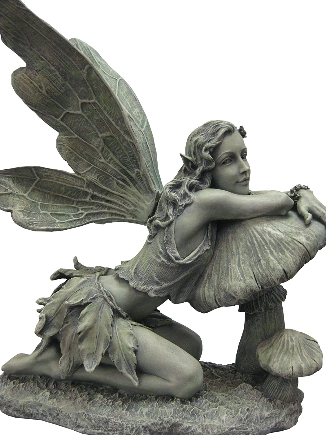 Delicieux Amazon.com : Napco 16 1/2 Inch Tall Green Fairy On Mushroom : Statues :  Garden U0026 Outdoor