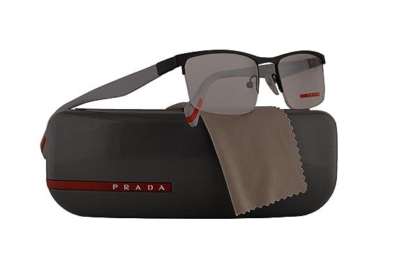 5ae6e17fa7e Prada PS52FV Eyeglasses 54-18-140 Grey Rubber w Demo Clear Lens TFZ1O1  VPS52F VPS 52F PS 52FV  Amazon.co.uk  Clothing