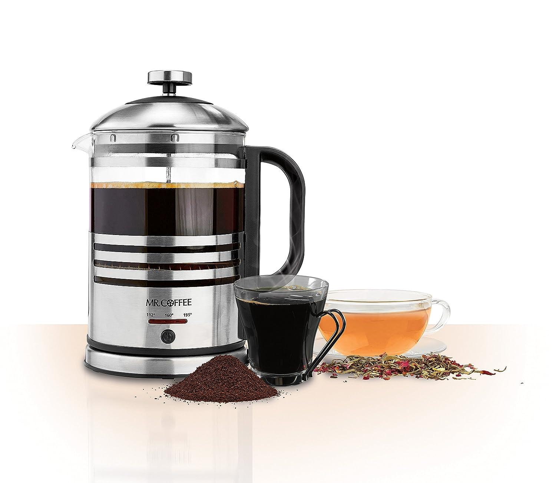 Amazon.com: Mr. Coffee Technique + Taste Electric French Press and ...
