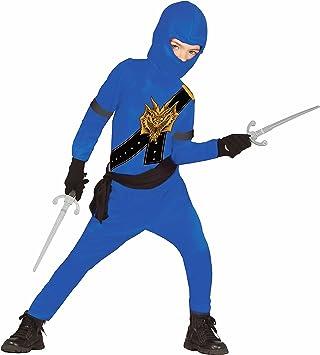 Disfraz de ninja para niños, color azul y negro, con elegante ...