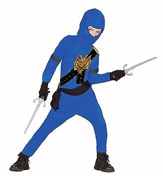 Disfraz de ninja para niños, color azul y negro, con ...