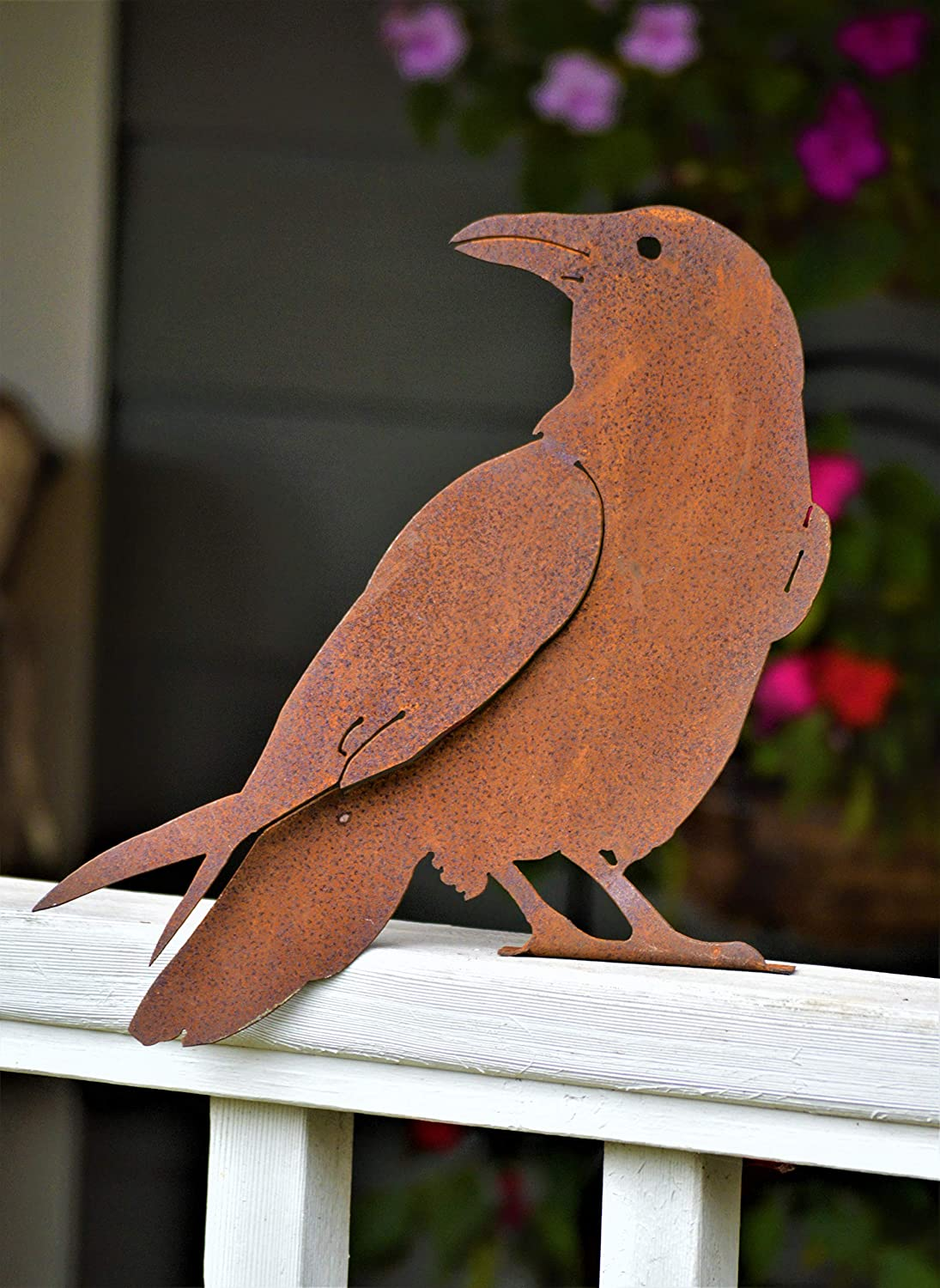 Elegant Garden Design Quoth The Raven, Steel Silhouette with a Rusty Patina