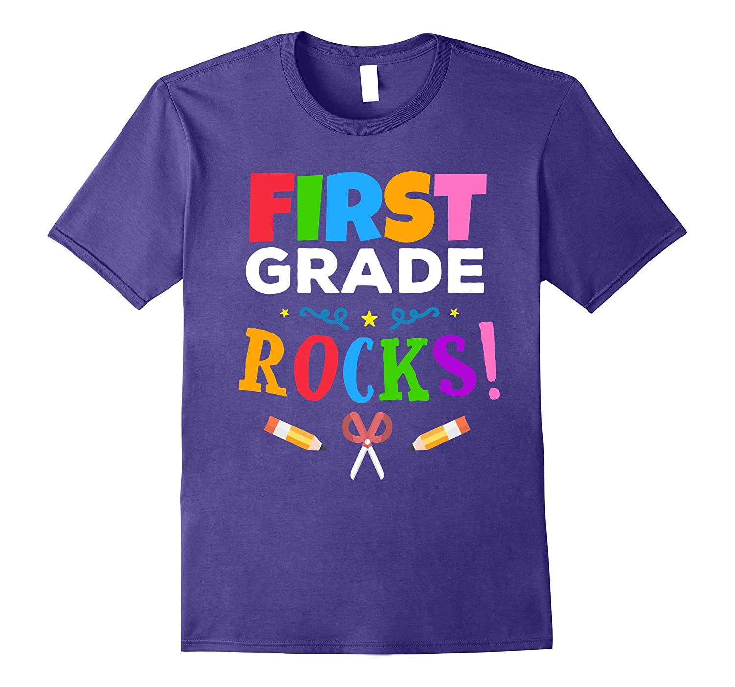 First Grade Rocks T-Shirt for Students and Teachers-BN