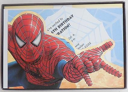 amazon com hallmark party express spiderman party invitations