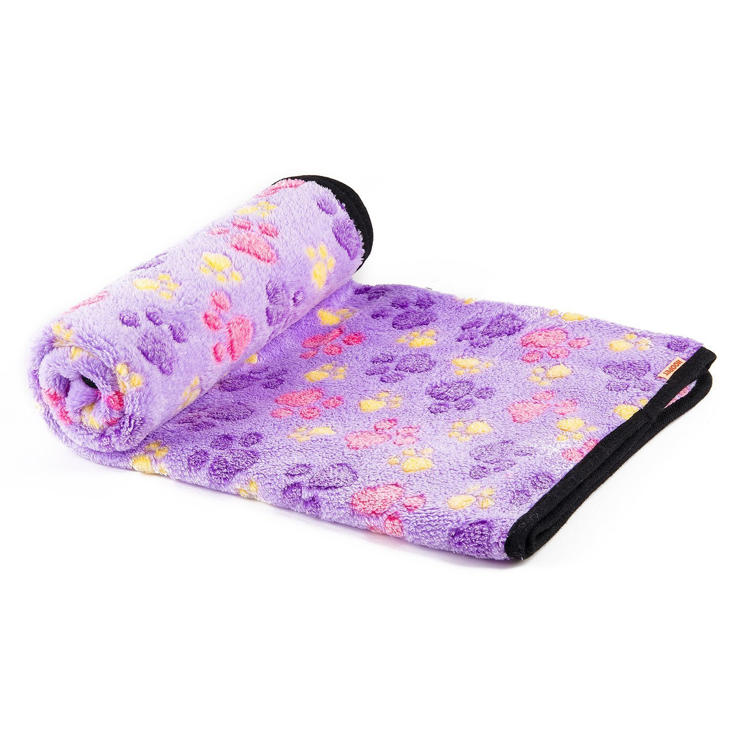 kiwitatá Soft Warm Fleece Pet Dog Blanket Puppy Paw Print Throw Blanket Bed Mat for Couch, Car, Cage, Kennel, Dog House