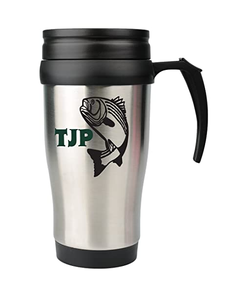 Fish decal tumbler yeti monogram vinyl decal with design color and size options