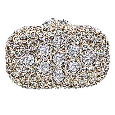 68e2baedbd Fawziya Round Ball Clutch Evening Wedding Chain Rhinestone Crystal Clutch  Bag-AB gold