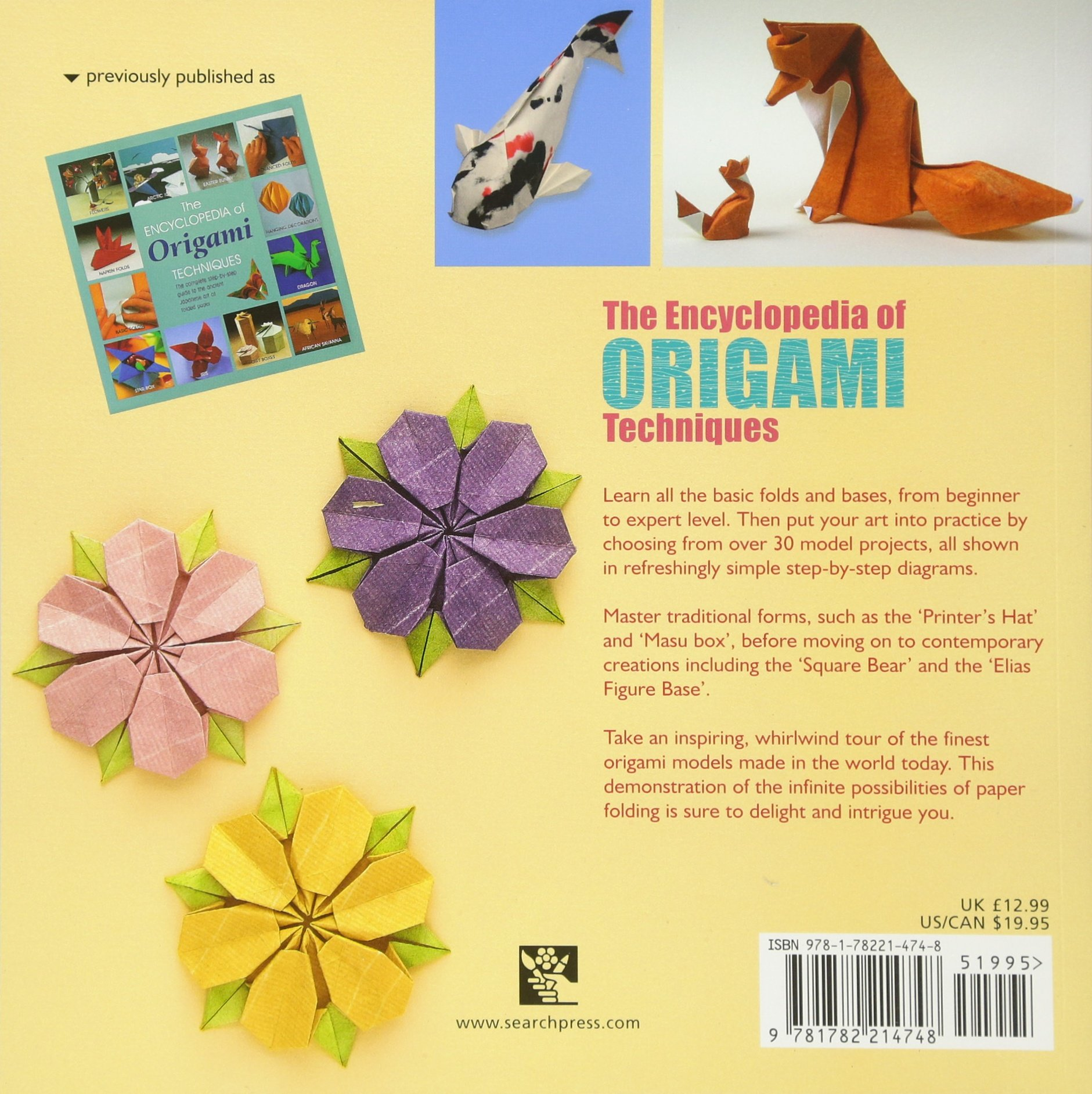 Encyclopedia Of Origami Techniques The Complete Fully Angel Diagrams Illustrated Guide To Folded Paper Arts Search Press Classics Nick Robinson