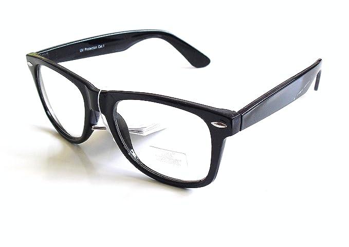 Gafas de Pasta Sin Graduar Unisex color Negro con Funda ...