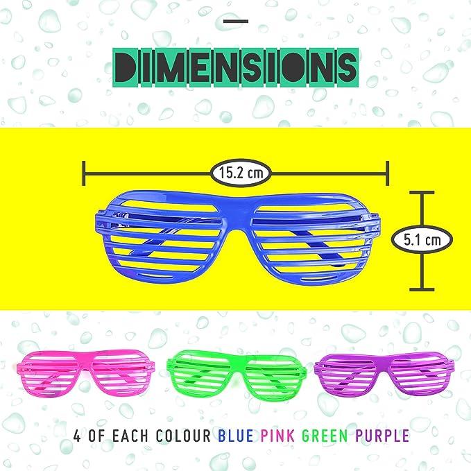 5794789f60 Bramble Gafas de Sol de persiana para Fiestas. 4 Colores Surtidos. Paquete  DE 12.