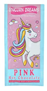 Unicorn Dreams Pink Hot Chocolate Cocoa Drink Mix Packet, 1.25 Oz (Pack of 2)