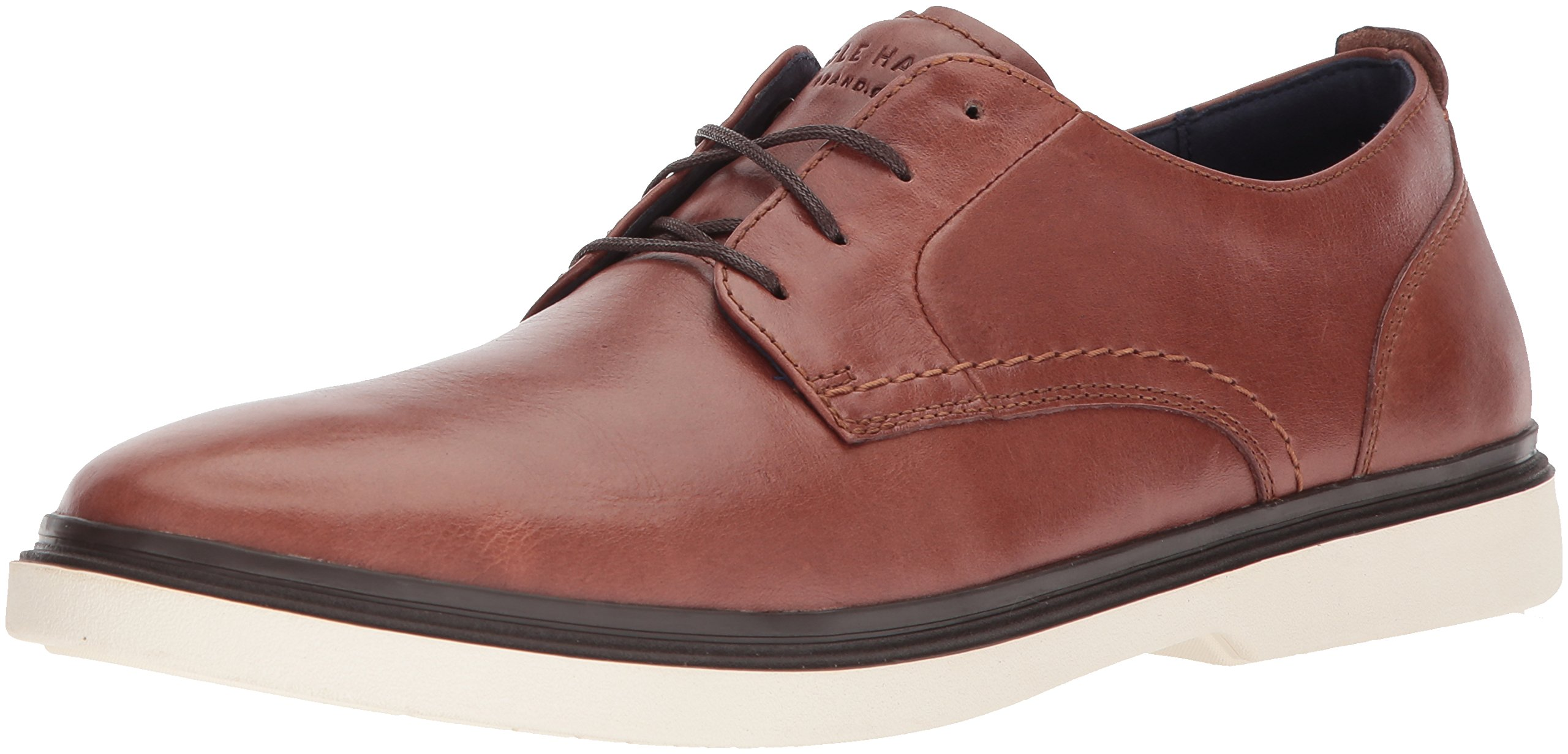 Cole Haan Men's Brandt Plain Toe Oxford, Woodbury/Ivory, 9.5 Medium US