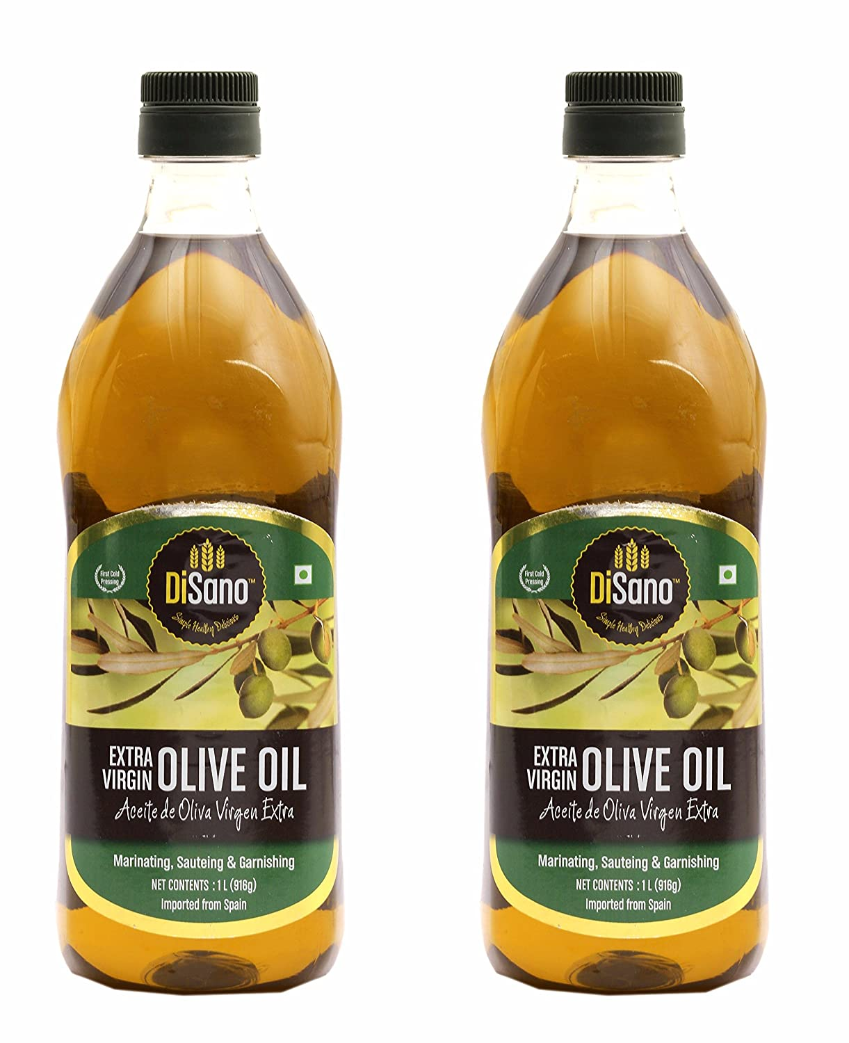 DiSano Extra Virgin Olive Oil, First Cold Pressed, 1L (2 x 1L