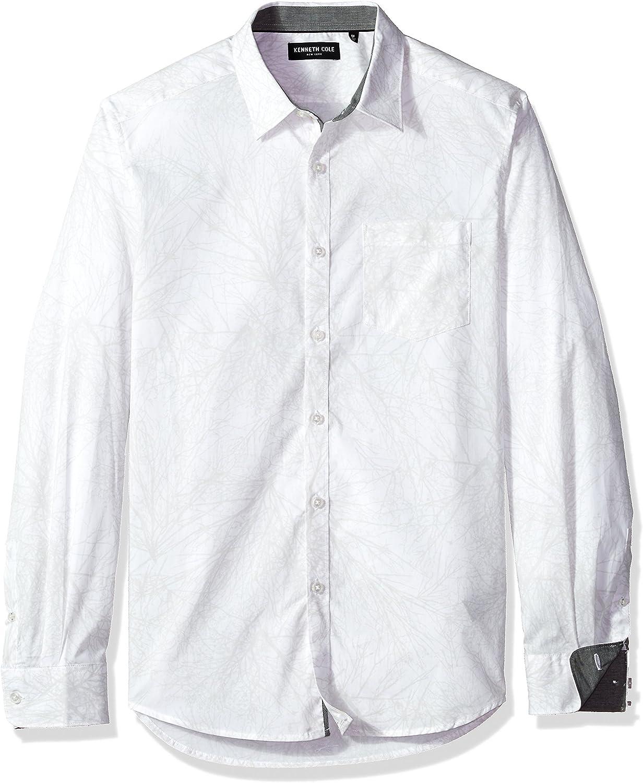 Kenneth Cole New York Hombre MMF7BWL06 Manga Larga Camisa de ...