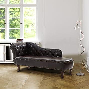Amazon.com: Cloud Mountain Chaise Lounge Leisure Sofa Chair Couch ...