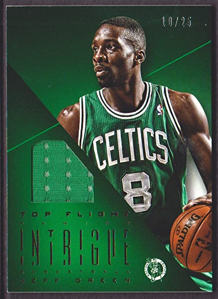 6ebfc55899f 2012-13 Panini Intrigue Basketball Top Flight Jersey  13 Jeff Green ...