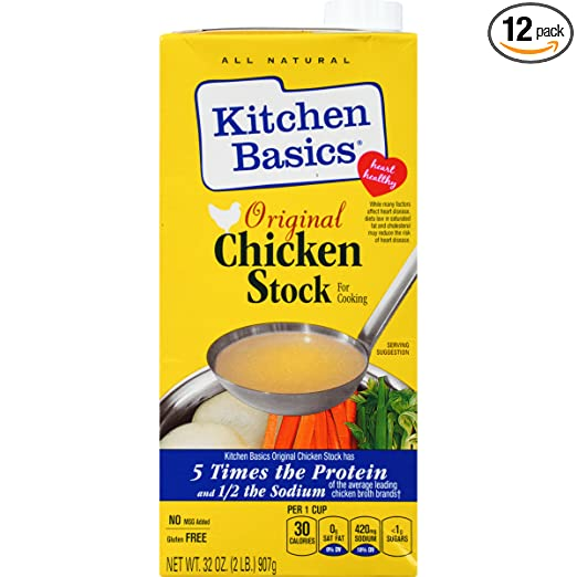 Amazon Com Kitchen Basics Real Chicken Stock 32 Ounce Pack Of 12