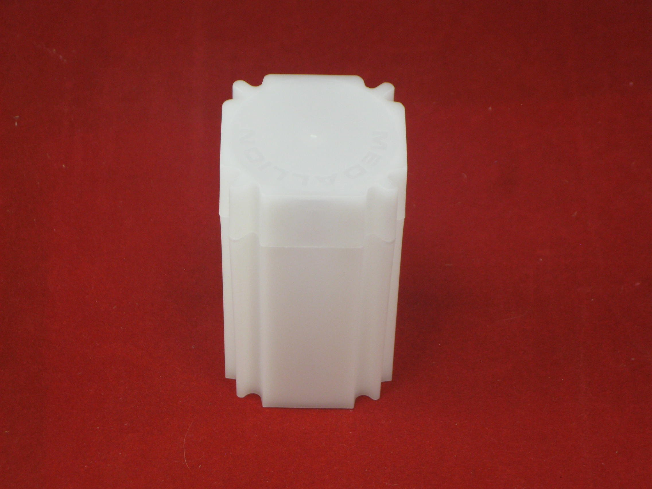 (100) Coinsafe Brand Square White Plastic (Large Dollar) Size Coin Storage Tube Holders by CoinSafe