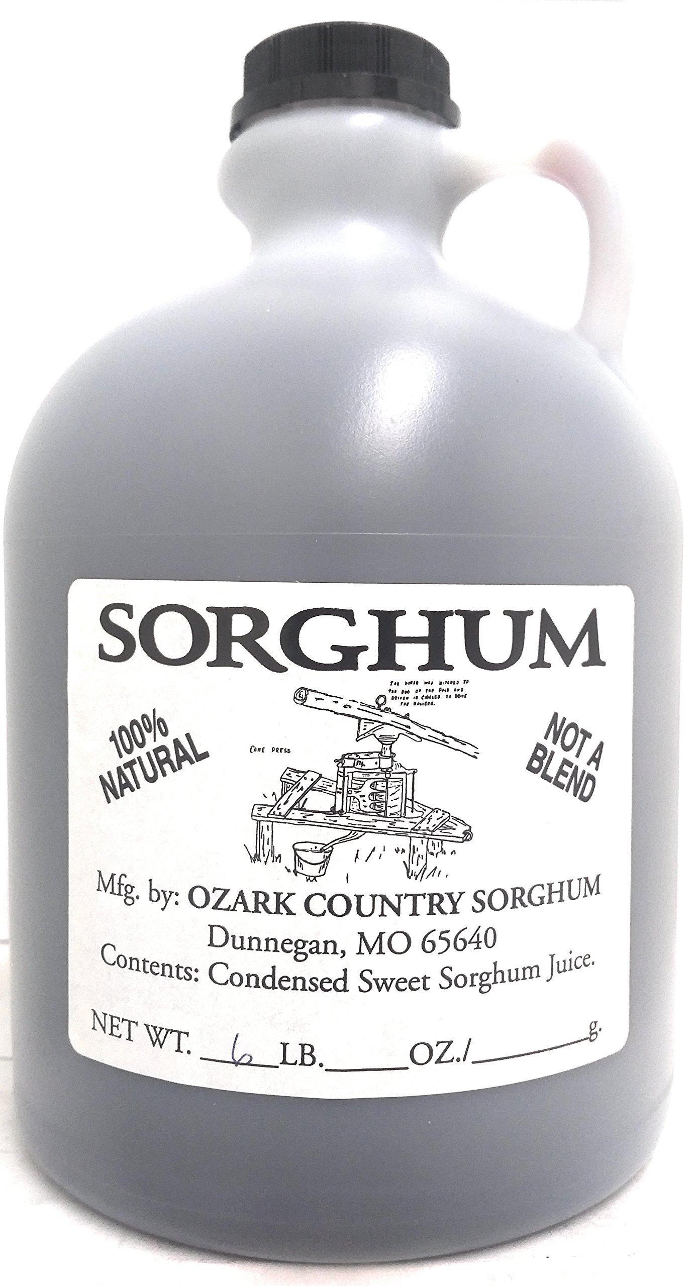 Pure Missouri Ozark Country Sorghum (1/2 Gallon Jug (6lbs.)