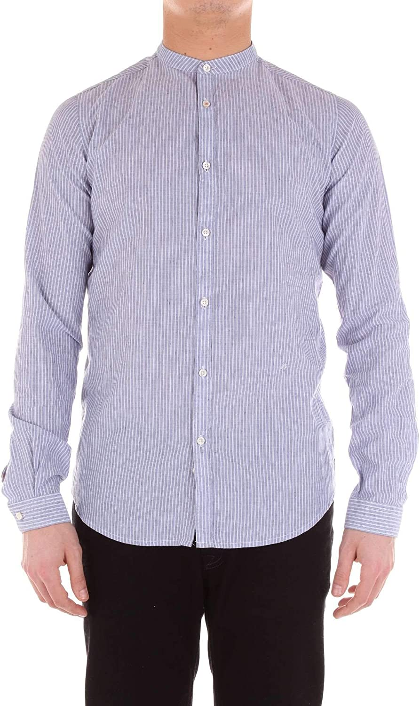 DIKTAT Mens 59405Blue White//Blue Cotton Shirt