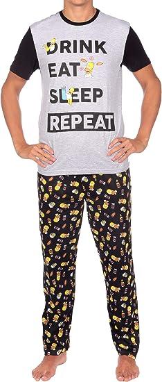 The Simpsons Pijama para Hombre Los Simpsons Homer