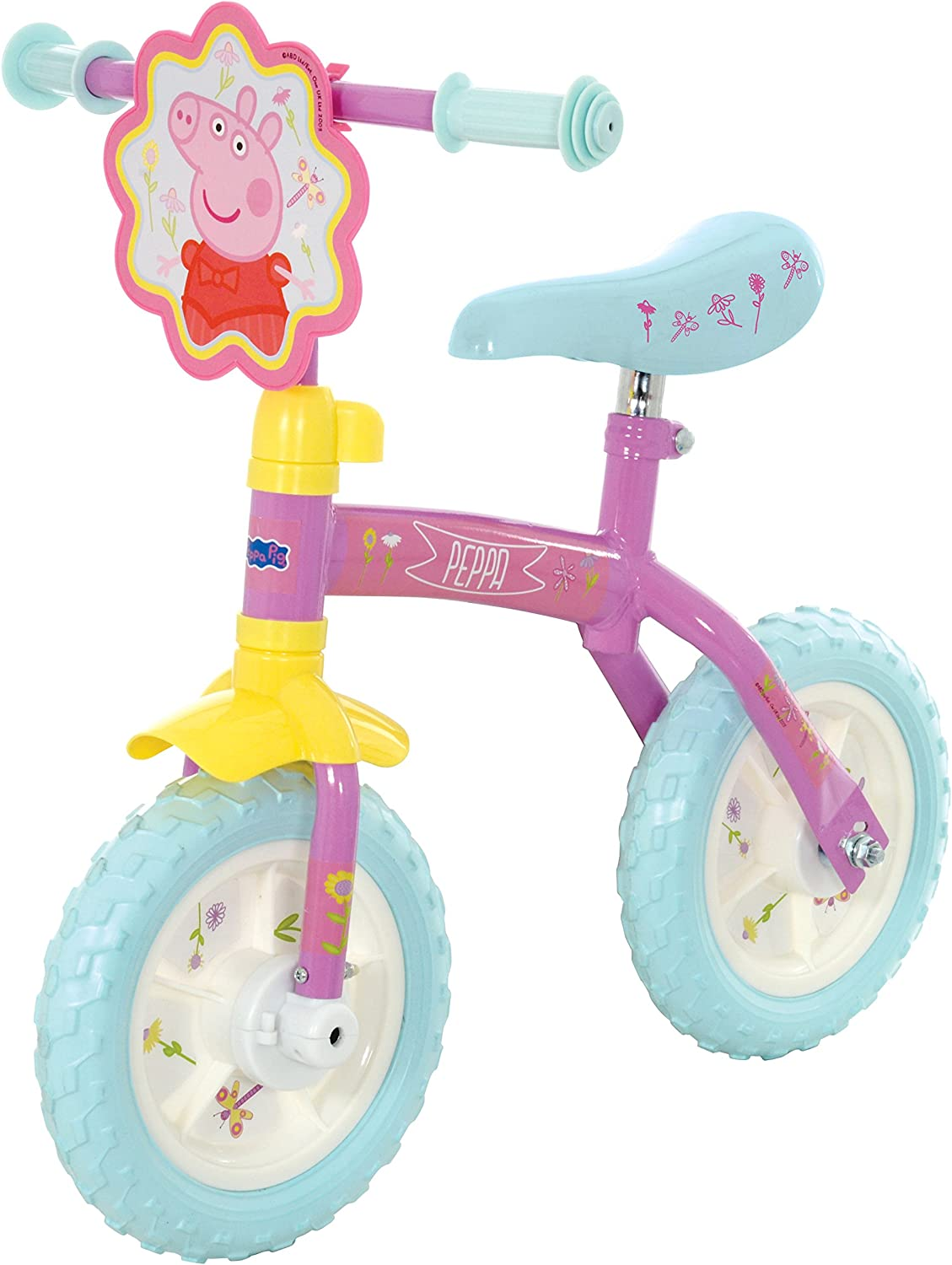 Peppa Pig M14270 10-Inch 2-in-1 Training Bike: Amazon.es: Juguetes ...