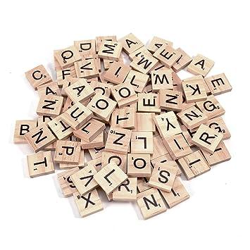 5 x Scrabble 100 Holz Buchstaben /& Zahlen Ersatzteile Spielzubehör Brettspiel