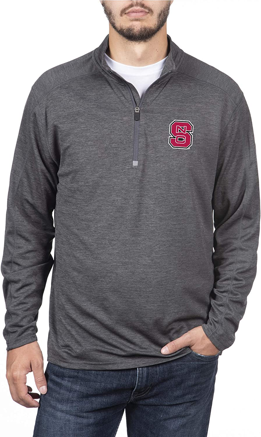 Top of the World Mens Dark Heathered Poly Half Zip Pullover