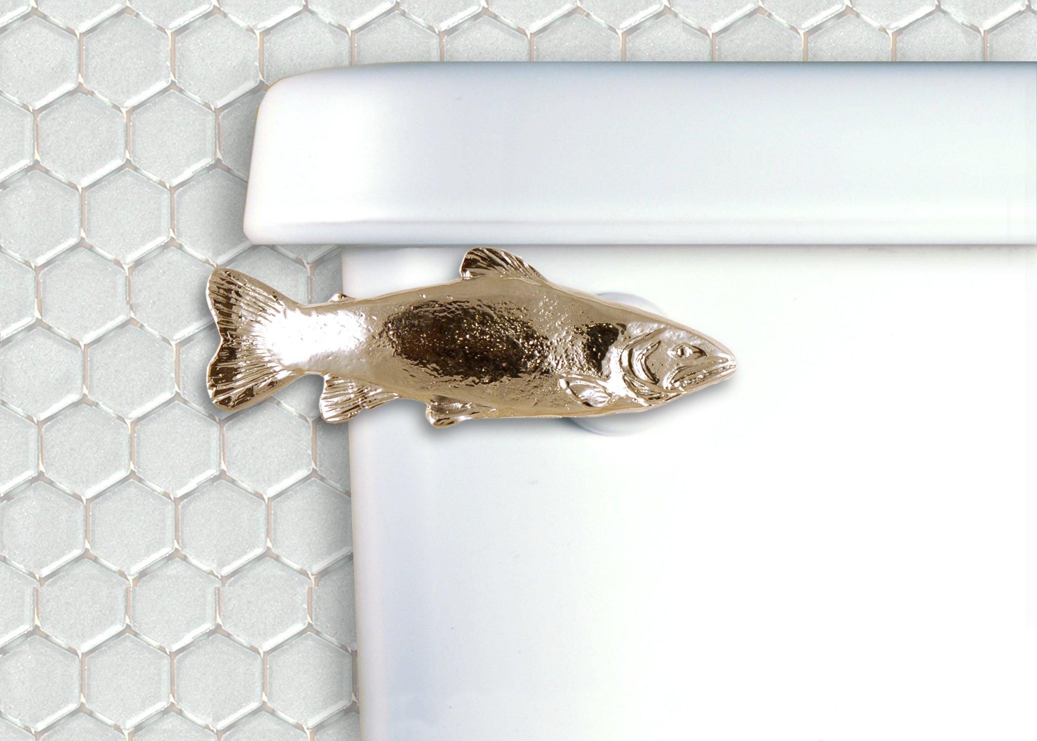 Functional Fine Art Trout Toilet Flush Handle - Front Mount - Chrome Finish by Functional Fine Art